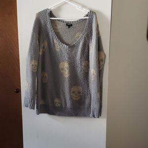 Knit skeleton sweater